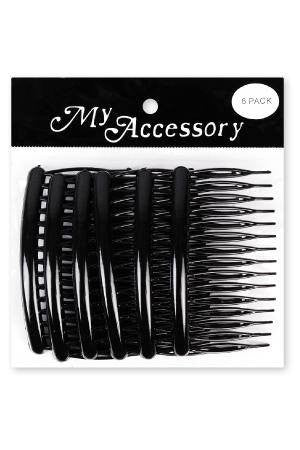 Side Comb in Black 6 Pack