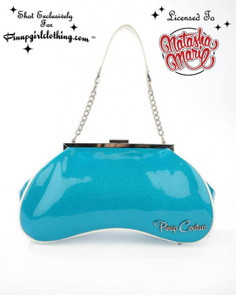 Amoeba Handbag in Blue