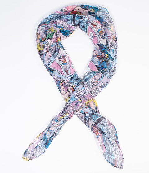 Wonder Woman x Unique Vintage Comic Print Hair Scarf