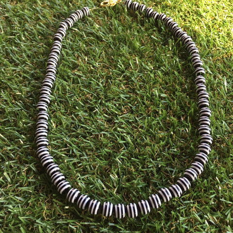 Long Carnival Stripe Necklace in Black