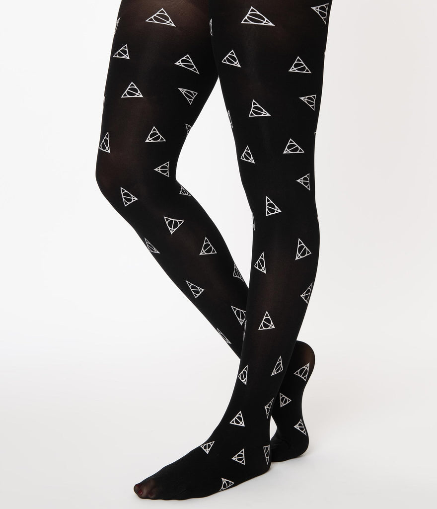 Harry Potter X Unique Vintage Deathly Hallows Tights