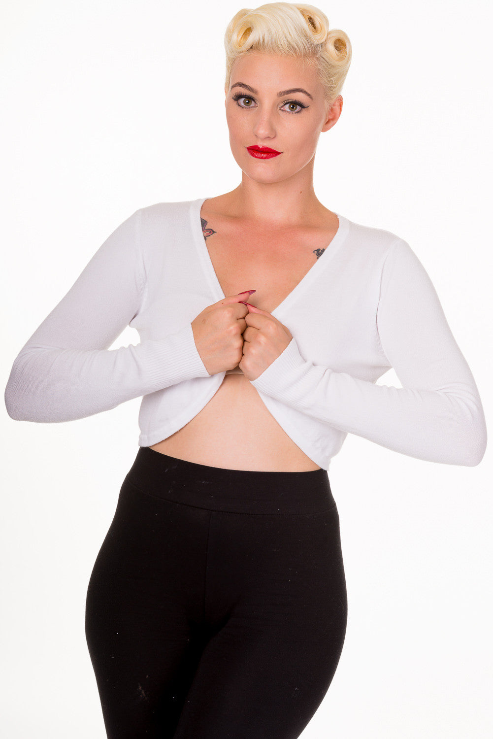 Flickers Bolero in White - Natasha Marie Clothing
