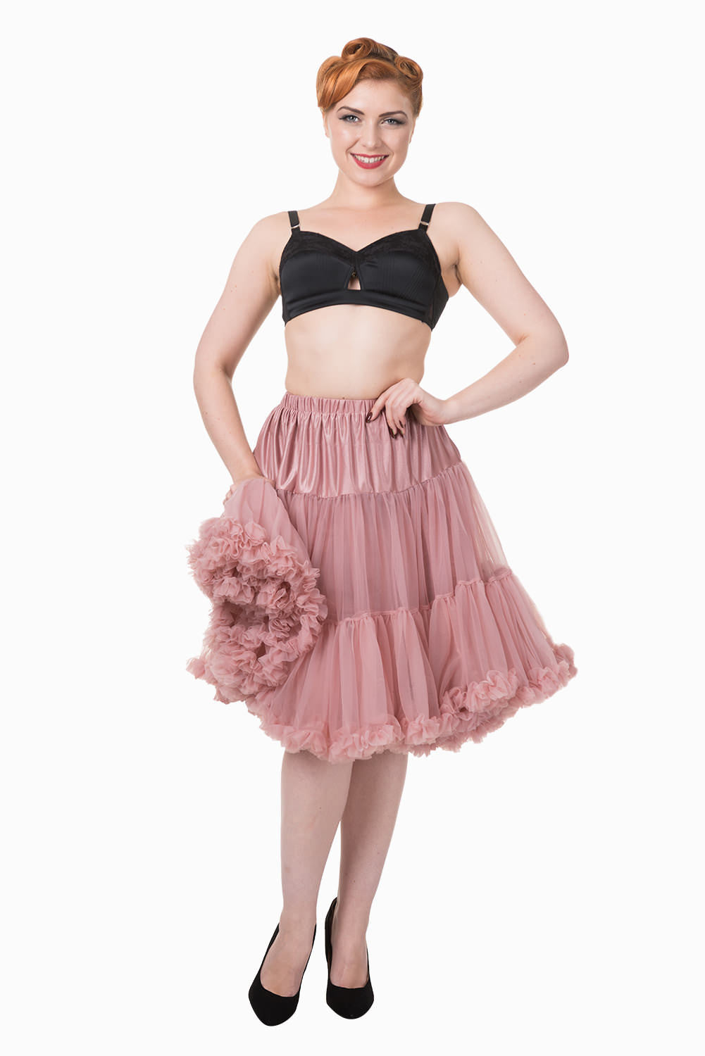 Starlite Petticoat in Dusty Pink - Natasha Marie Clothing