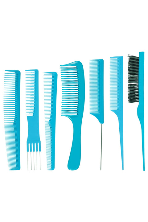 Folding Comb Set in Aqua