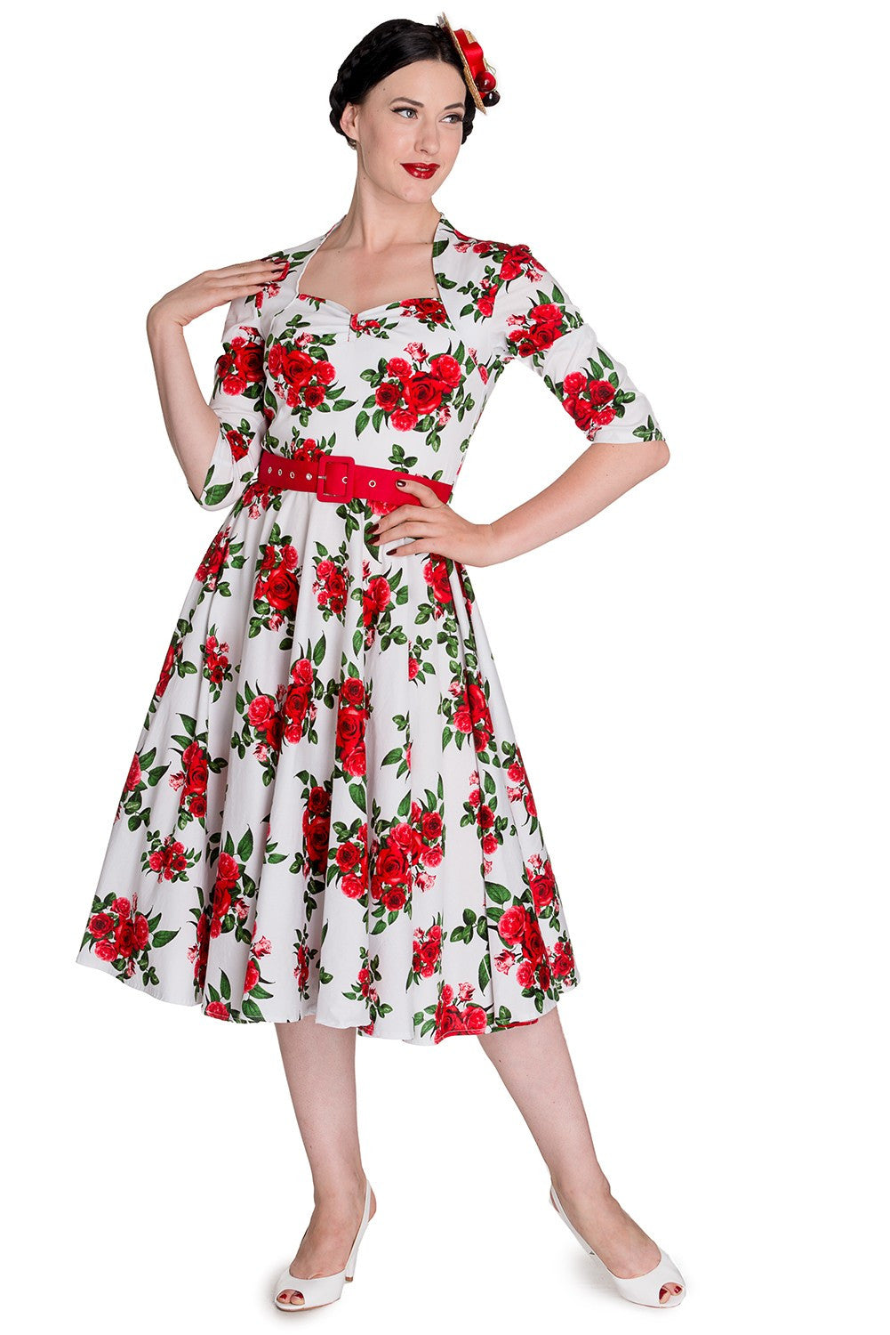 Eternity 50s Dress in White