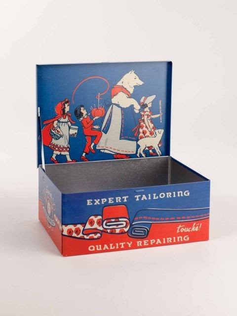 Blue Q Sewing Cigar Box