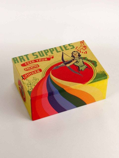 Art Supplies Tin Cigar Box - Natasha Marie Clothing