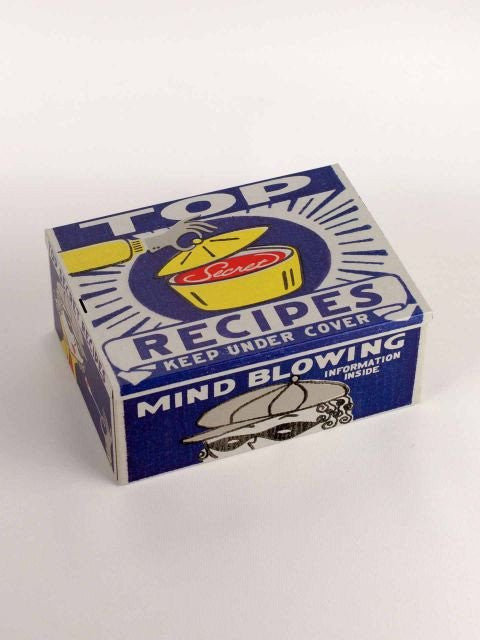 Top Recipes Tin Cigar Box