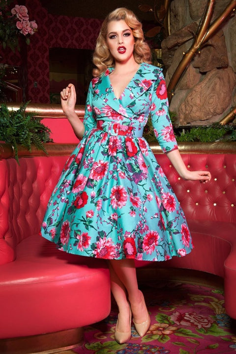 Birdie Dress in Turquoise