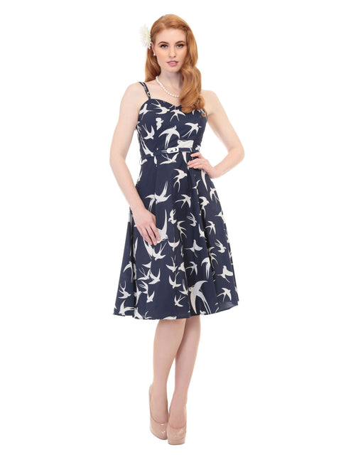 Simona Swallow Print Dress