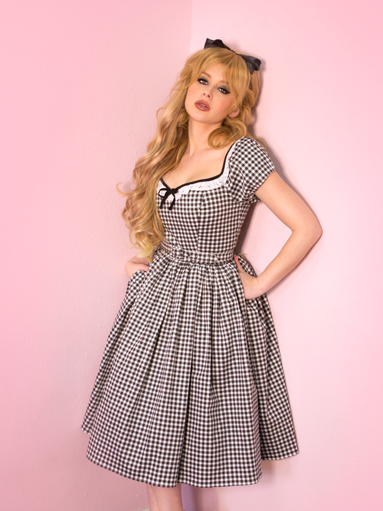 Bardot Beauty in Black Gingham