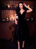 SPECIAL ORDER Baudelaire Swing Dress in Black Velvet - Natasha Marie Clothing
