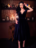 PRE ORDER Baudelaire Swing Dress in Midnight Velvet