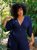 PRE ORDER Bauhaus Top in Navy