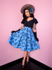 Circle Skirt in Vintage Blue Roses