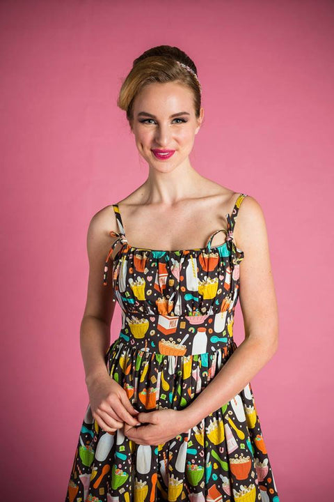 PRE ORDER Bonnie Dress in Cereal Time Print