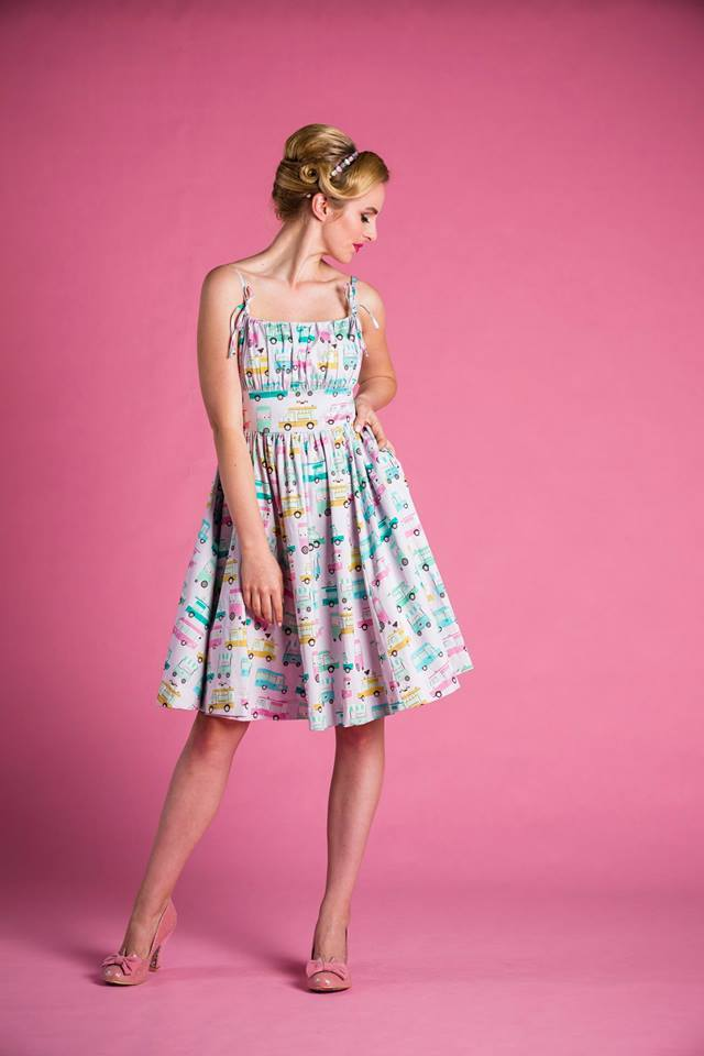PRE ORDER Bonnie Dress in Ice Cream Truck Print