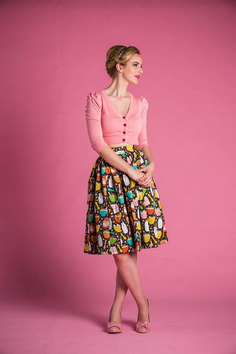 PRE ORDER Cindy Skirt in Cereal Time Print