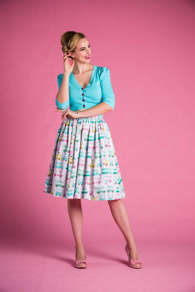 PRE ORDER Cindy Skirt in Ice Cream Truck Print