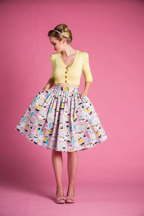 PRE ORDER Cindy Skirt in Ice Cream Party Print