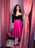Circle Skirt in Hot Pink Satin