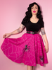 Vixen Circle Skirt in Pinky Spider Print - Mean Girls Club x Vixen