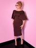 PRE ORDER Miss Kitty Deadly Kiss Dress in Chocolate Brown