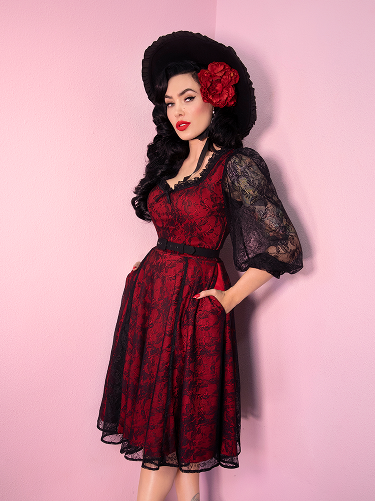 Decadence Swing Dress in Red