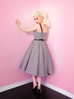 Dollface Dress in Black and White (XS and S ONLY) - Natasha Marie Clothing