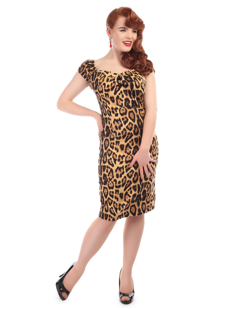 Dolores Dress in Feral Print (XXS and 4XL ONLY) - Natasha Marie Clothing