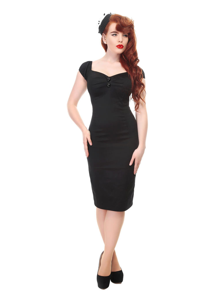 Dolores Dress in Plain Black