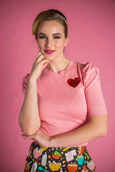 PRE ORDER Dorothy Knit Top in Pink