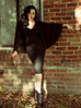 Drusilla Cape Dress in Black Crepe (XS, S, 3XL and 4XL ONLY) - Natasha Marie Clothing