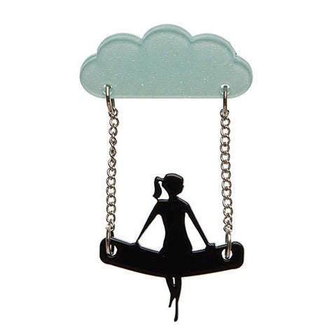 A View to a Cloud Brooch