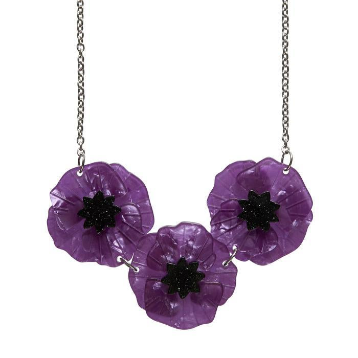 Poppy Field Necklace Purple