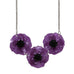 Poppy Field Necklace Purple - Natasha Marie Clothing