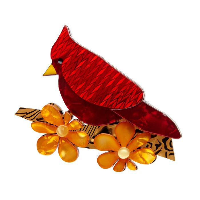 Ruby the Red Cardinal Brooch