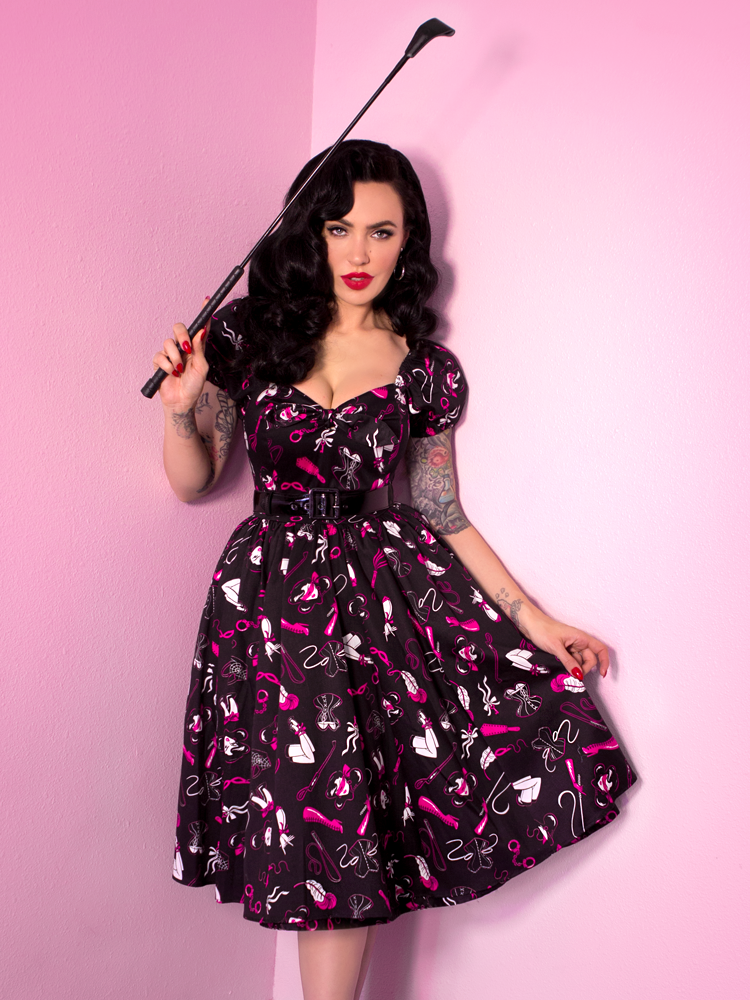 LIMITED EDITION Vixen Swing Dress in Frisky Fetish Print
