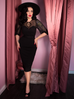 Frenchie Wiggle Dress in Black (4XL ONLY) - Natasha Marie Clothing
