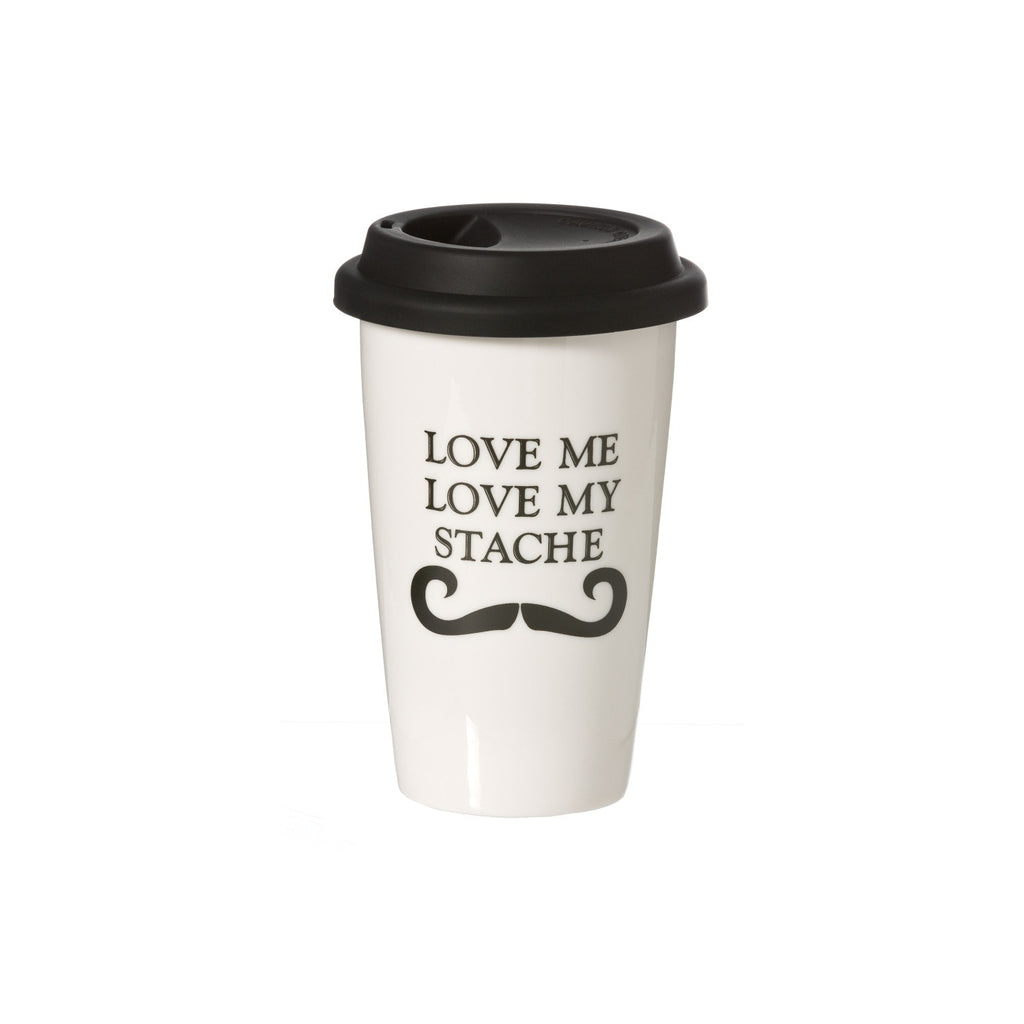 Love My Stache Travel Mug
