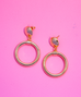 """Bad Girl Hoops"" Gold Earrings"