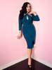 Golden Era Dress in Teal (2XL, 3XL and 4XL ONLY) - Natasha Marie Clothing