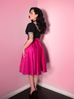 Circle Skirt in Hot Pink Satin (S, M and L ONLY) - Natasha Marie Clothing