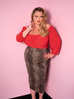 Vixen Pencil Skirt in Wild Leopard Print (XS, 2XL and 3XL ONLY)