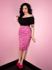 Vixen Pencil Skirt in Mean Girls Club Print - Mean Girls Club x Vixen (XS and XL ONLY) - Natasha Marie Clothing