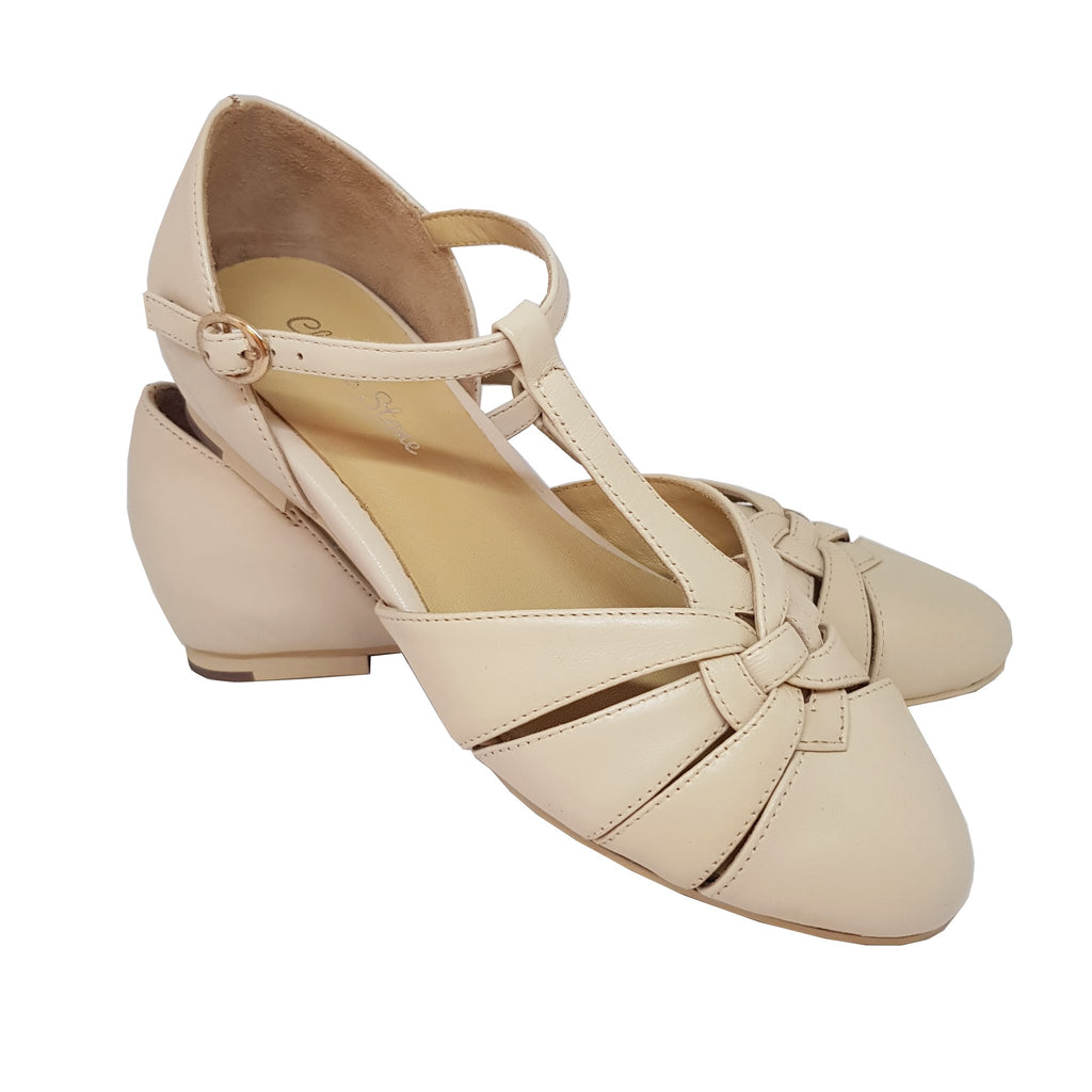 Charlie Stone Montpellier Shoes - Cream - Natasha Marie Clothing