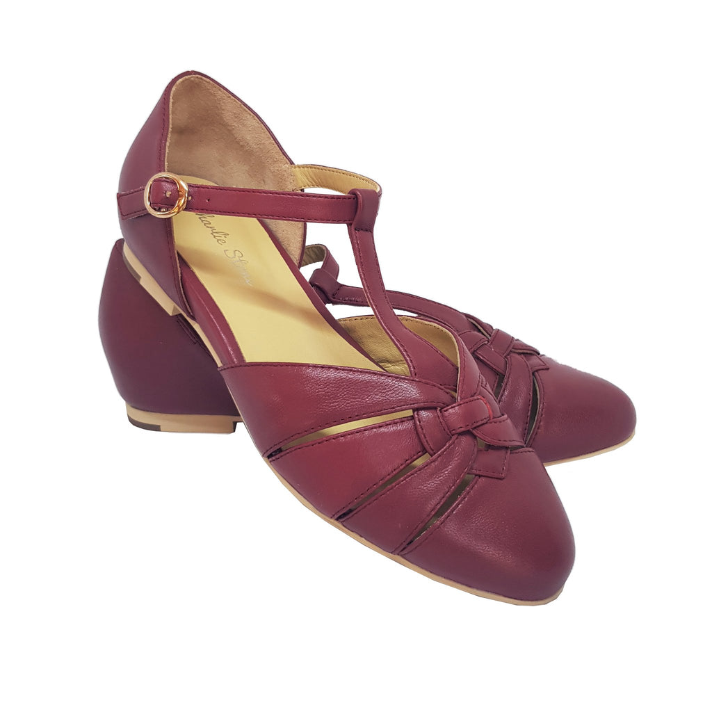 Charlie Stone Montpellier Shoes - Wine