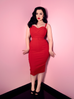 Maneater Wiggle Dress in Red Bengaline (4XL ONLY)