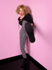 PRE ORDER Miss Kitty Cigarette Pants in Black Stripes (XS ONLY)