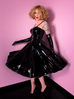 Miss Kitty Circle Skirt in Black Vinyl (S and M ONLY)
